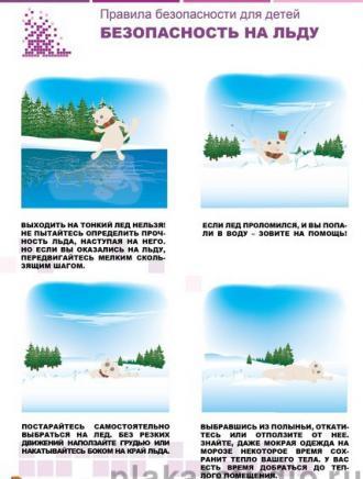 Згадуємо правила поведінки взимку